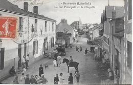 BEAUTOUR EN VERTOU La Rue Principale Très Animée Maison Mahé Charpentier Qui Sert à Boire Et à Manger !  1910 T.B.E. - France