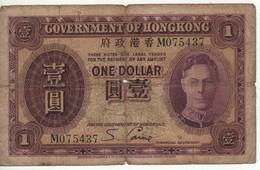 HONG KONG  $ 1  King George VI  P312  (ND  1936) - Hong Kong