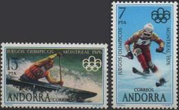 //// ANDORRE ES Yvert 96 - 97** Michel 103 - 104** - Ete 1976: Montréal