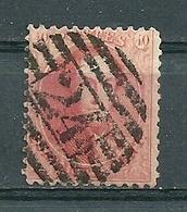 Nr 16 Gestempeld P 24 10 B BRUXELLES - Cote 40,00 - 1863-1864 Médaillons (13/16)