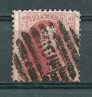 Nr 16 Gestempeld P MIDI - Cote 40,00 + COBA 12 Euro - 1863-1864 Medaillen (13/16)