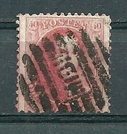 Nr 16 Gestempeld P MIDI - Cote 40,00 + COBA 12 Euro - 1863-1864 Médaillons (13/16)