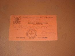 CARTE ARTS ET MANUFACTURES, ASSOCIATION ANCIENS ELEVES ECOLE CENTRALE 1921/1922 Paris. - Cartes De Visite