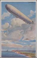 Gemälde-AK Schulze: Reichsmarineluftschiff Wacht An Ostseeküste, Ungebraucht - Cartes Postales