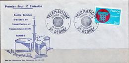 Postal History: France FDC - Telecom