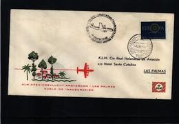 Netherlands 1960 KLM First Flight Amsterdam - Las Palmas - Period 1949-1980 (Juliana)