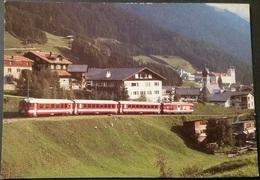 Ak  Eisenbahn,railway - Schweiz - Elektro -Gepäcktriebwagen Deh 4/4 Nr. 94 Der Furka - Oberalp - Bahn Bei Disentis - Eisenbahnen