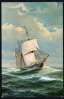 C0456 - TOP Chr. Rave Künstlerkarte - Segelboot Segelschiff Schifffahrt - Marien Galerie - Hukkert Galeasse - Segelboote