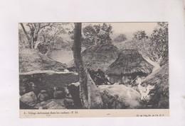 CPA VILLAGE DAHOMEEN DANS LES ROCHERS - Dahomey