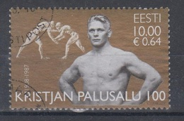 Estonia 2008 Mi 607 Used  Olympic Champion K.Palusalu - Estonia