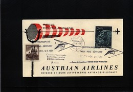 Austria / Oesterreich 1961 Austrian Airlines First Flight Wien - Prague - Eerste Vluchten AUA