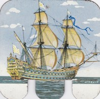 Figurine Publicitaire Huilor Dulcine Samo Crémolive - Bateau Le Soleil Royal - France 1692 - Années 60/70 - Tôle - Publicité