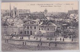 """LILLE - Explosion Du Bastion Dit """"18 Ponts"""", 11 Janvier 1916 - Boulevard D'Alsace - Cité Douai - Voie Ferrée - Lille"""