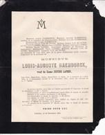 LOKEREN Louis-Auguste RAEMDONCK Veuf LAPEER 1808-1891 Famille VAN DE PUTTE - Décès