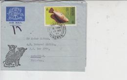 Kenya Air Letter To Pakistan, Stamps, Aerogram, Fish, Animals, Tiger      (A-702) - Kenia (1963-...)