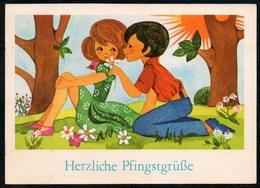 C0463 - Hoppert Glückwunschkarte - Pfingsten - Planet DDR - Pfingsten