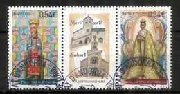 Jumelage Du Sanctuaire N-D De Meritxell,Andorre,  & N-D De Sabart En Ariège. Bande Oblitérée 1 ère Qualité - Andorre Français