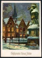 C0465 - G. Schiffel Glückwunschkarte Künstlerkarte - Neujahr DDR - Winterlandschaft - Neujahr