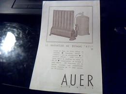 Publicite  Generateur Radiateur Au  Butagaz  AUER   A Paris Rue St Fargeau - Publicités