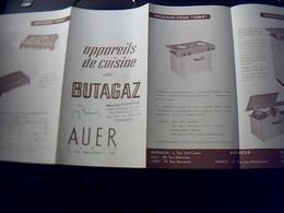 Publicite  Appareils De Cuiine  Au  Butagaz  AUER   A Paris Rue St Fargeau - Publicités