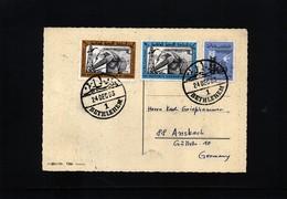 Jordan 1963 Interesting Postcard With Betlehem Postmark - Jordanie