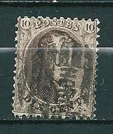 Nr 14A Gestempeld P NORD - Cote 4,50 + COBA 5,00 - 1863-1864 Médaillons (13/16)