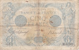 BILLETE DE FRANCIA DE 5 FRANCS DEL 19-06-1915    (BANKNOTE) BLEU - 1871-1952 Circulated During XXth