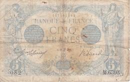 BILLETE DE FRANCIA DE 5 FRANCS DEL 19-06-1915    (BANKNOTE) BLEU - 1871-1952 Antiguos Francos Circulantes En El XX Siglo