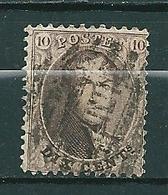 Nr 14A Gestempeld P MIDI - Cote 4,50 + COBA 6,00 - 1863-1864 Médaillons (13/16)