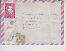 Sudan Airmail Cover To Pakistan, Stamp, Cattle Ship,     (A-706) - Sudan (1954-...)