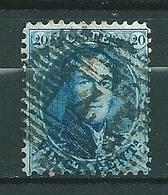Nr 15A Gestempeld P 4 ANVERS - Cote 4,50 + COBA 1,00 - 1863-1864 Médaillons (13/16)
