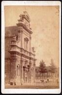ROND 1890 - OUDE ALBUMINE FOTO KLEINE BEGIJNHOF KERK GENT - 15 X 10CM - Anciennes (Av. 1900)