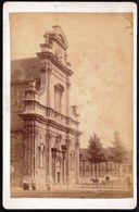 ROND 1890 - OUDE ALBUMINE FOTO KLEINE BEGIJNHOF KERK GENT - 15 X 10CM - Photos