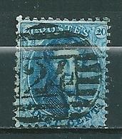 Nr 15A Gestempeld P 24 10 B BRUXELLES - Cote 4,50 + COBA 1,00 - 1863-1864 Médaillons (13/16)