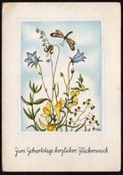 C0471 - Nora Stechmann Glückwunschkarte Geburtstag - Blumen Libelle - Geburtstag