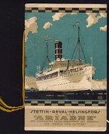 Steamer Ship - ARIADNE - STETTIN-REVAL-HELSINGFORS - FINLAND ESTONIA Publicité Pubblicità BROCHURE (see Sales Conditions - Dépliants Turistici