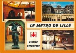 59) LILLE : Le Metro - Station République - Lille