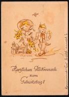 C0472 - Lupicina Glückwunschkarte Geburtstag - Kinder Hund - Weber Kutschat Köthen - Geburtstag