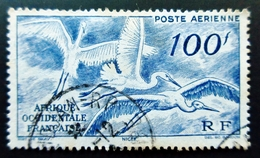 1947  France (ex-colonies & Protectorats) > A.O.F. PA13  White Stork (Ciconia Ciconia) Oblitération ABIDJAN - Oblitérés