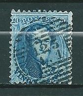 Nr 15A Gestempeld P123/A1 VERVIERS (A1) - Cote 4,50 + COBA 10,00 - 1863-1864 Médaillons (13/16)