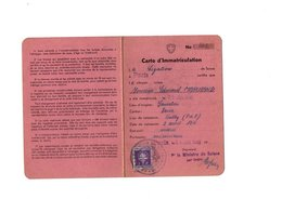 Carte D' Immatriculation - Timbres