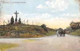 Berloz - Le Grand Christ (animée, Colorisée, Attelage, Edit. F. Teheux-Hovent 1913) - Berloz