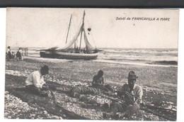Chieti-francavilla A Mare-saluti.pescatori Alle Reti--viagg.1924-cartol. Di 94 Anni -animata- - Chieti