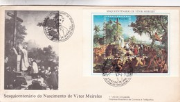 SESQUICENTENARIO DO NASCIMENTO DO VITOR MIRELES. FDC 1983 RIO DE JANEIRO. BLOCK STAMP- BLEUP - FDC