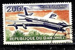 DAHOMEY Aer25° 200f Brun-orange, Violet Et Vert Avions D'Air Afrique Douglas DC-8 (10% De La Cote + 015) - Benin - Dahomey (1960-...)