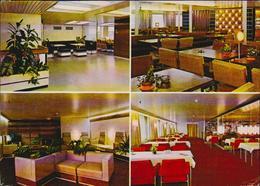 MBK Eisenbahnfährschiff Rügen, Vestibül Mitropa Cafeteria, Salon 1. Klasse, Mitropa Restaurant, 14,7 X 10,5 Cm, Gelaufen - Fähren