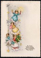 C0480 - Glückwunschkarte Weihnachten Engel Angel - Haco Aquarell DDR - Weihnachten
