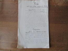 LEME LE 15 NOVEMBRE 1868 MESURAGE REGLEMENT BORNAGE PAR A. GUILLAUME GEOMETRE PROPRIETES DE APPOLINE LEBLANC 28 PAGES - Manoscritti