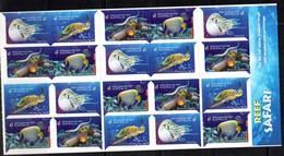 AUSTRALIA, 2018, MNH,TURTLES, SNAKES, NAUTILUS, SHARKS, SEA SNAKES,FISH, SELF-ADHESIVE BOOKLET OF 20v - Turtles