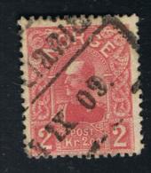 1909 / 1910 Freimarke König Haakon VII Michel 74 Gestempelt O Siehe Scan - Norwegen